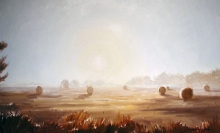 North Carolina artist J. Chris Wilson's Landscape Painting <em>Study for Sunrise at Cool Spring</em> &quot;From Murphy to Manteo--An Artist's Scenic Journey&quot;
