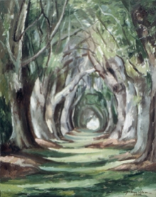 North Carolina artist J. Chris Wilson's Landscape Painting <em>Avenue of the Titans, St. Simons Island, GA</em> see also &quot;From Murphy to Manteo--An Artist's Scenic Journey&quot;