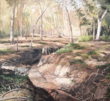 North Carolina artist J. Chris Wilson's Landscape Painting <em>Banks of the Roanoke</em> &quot;From Murphy to Manteo--An Artist's Scenic Journey&quot;