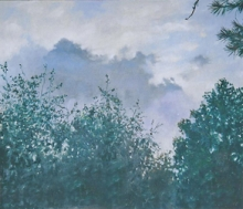 North Carolina artist J. Chris Wilson's Landscape Painting <em>Beyond the Tree Tops</em> see also &quot;From Murphy to Manteo--An Artist's Scenic Journey&quot;