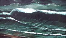 North Carolina artist J. Chris Wilson's Landscape Painting <em>The Breaker at Emerald Isle</em> see also &quot;From Murphy to Manteo--An Artist's Scenic Journey&quot;