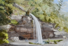 North Carolina artist J. Chris Wilson's Landscape Painting Bridal Veil Falls