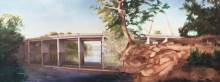 North Carolina artist J. Chris Wilson's Landscape Painting <em>A New Bridge to Freedom Hill</em> see also &quot;From Murphy to Manteo--An Artist's Scenic Journey&quot;