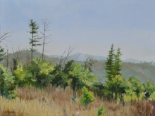 North Carolina artist J. Chris Wilson's Landscape Painting <em>Rolling Hills, Caldwell County</em> &quot;From Murphy to Manteo--An Artist's Scenic Journey&quot;