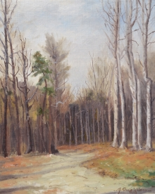 North Carolina artist J. Chris Wilson's Landscape Painting <em>Study for Camp Road near Salisbury, Iredell County</em> &quot;From Murphy to Manteo--An Artist's Scenic Journey&quot;