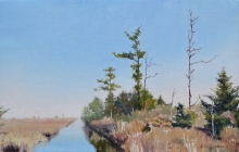 North Carolina artist J. Chris Wilson's Landscape Painting <em>Study for Creek to Sound on Mashoes Road, Dare County</em> &quot;From Murphy to Manteo--An Artist's Scenic Journey&quot;