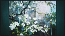 North Carolina artist J. Chris Wilson's Landscape Painting <em>Dogwood at the W. W. Graves House</em> see also &quot;From Murphy to Manteo--An Artist's Scenic Journey&quot;