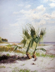 North Carolina artist J. Chris Wilson's Landscape Painting <em>The Sirens, St. Simons Island, GA</em> see also &quot;From Murphy to Manteo--An Artist's Scenic Journey&quot;