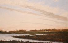 North Carolina artist J. Chris Wilson's Landscape Painting <em>Evensong, Franklin County</em> &quot;From Murphy to Manteo--An Artist's Scenic Journey&quot;
