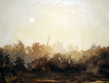 North Carolina artist J. Chris Wilson's Landscape Painting <em>Sunrise at the Cape Hatteras National Seashore, Dare County</em> &quot;From Murphy to Manteo--An Artist's Scenic Journey&quot;