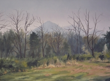 North Carolina artist J. Chris Wilson's Landscape Painting <em>Study for Hibriten, Caldwell County</em> &quot;From Murphy to Manteo--An Artist's Scenic Journey&quot;