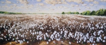 North Carolina artist J. Chris Wilson's Landscape Painting <em>Cottonscape at Cool Spring</em> see also &quot;From Murphy to Manteo--An Artist's Scenic Journey&quot;