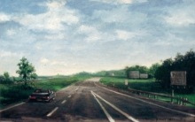 North Carolina artist J. Chris Wilson's Landscape Painting <em>Interstate Highway</em> see also &quot;From Murphy to Manteo--An Artist's Scenic Journey&quot;