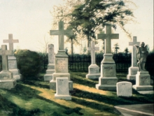 North Carolina artist J. Chris Wilson's Landscape Painting <em>Last Light--The Cross Garden</em> see also &quot;From Murphy to Manteo--An Artist's Scenic Journey&quot;
