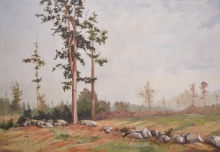 North Carolina artist J. Chris Wilson's Landscape Painting <em>Last Ones Standing, Davidson County</em> &quot;From Murphy to Manteo--An Artist's Scenic Journey&quot;