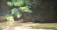 North Carolina artist J. Chris Wilson's Landscape Painting <em>Light and Shadow, Tar River</em> see also &quot;From Murphy to Manteo--An Artist's Scenic Journey&quot;