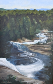 North Carolina artist J. Chris Wilson's Landscape Painting <em>Study for Looking Down Toxaway Falls, Transylvania County</em> &quot;From Murphy to Manteo--An Artist's Scenic Journey&quot;