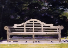 North Carolina artist J. Chris Wilson's Landscape Painting <em>Lutyens Bench</em> see also &quot;From Murphy to Manteo--An Artist's Scenic Journey&quot;