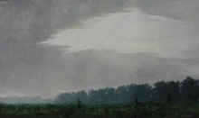 North Carolina artist J. Chris Wilson's Landscape Painting <em>Morning Fog on Cool Spring Road</em> see also &quot;From Murphy to Manteo--An Artist's Scenic Journey&quot;