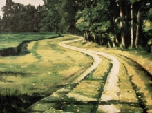 North Carolina artist J. Chris Wilson's Landscape Painting <em>Nash County Path</em> see also &quot;From Murphy to Manteo--An Artist's Scenic Journey&quot;