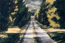 North Carolina artist J. Chris Wilson's Landscape Painting <em>Old Town Driveway, Edgecombe County</em> see also &quot;From Murphy to Manteo--An Artist's Scenic Journey&quot;