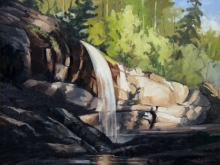 North Carolina artist J. Chris Wilson's Landscape Painting <em>Study Bridal Veil Falls, Macon County</em> &quot;From Murphy to Manteo--An Artist's Scenic Journey&quot;