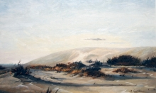North Carolina artist J. Chris Wilson's Landscape Painting <em>Study Jockey's Ridge, Dare County</em> &quot;From Murphy to Manteo--An Artist's Scenic Journey&quot;