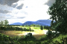 North Carolina artist J. Chris Wilson's Landscape Painting <em>Study View from Walnut Hollow, Burke County</em> &quot;From Murphy to Manteo--An Artist's Scenic Journey&quot;