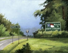 North Carolina artist J. Chris Wilson's Landscape Painting <em>Study for the Beginning of the Murphy to Manteo Highway, Cherokee County</em> &quot;From Murphy to Manteo--An Artist's Scenic Journey&quot;