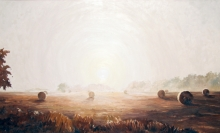 North Carolina artist J. Chris Wilson's Landscape Painting <em>Sunrise at Cool Spring, Edgecombe County</em> &quot;From Murphy to Manteo--An Artist's Scenic Journey&quot;