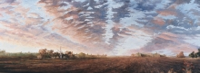 North Carolina artist J. Chris Wilson's Landscape Painting <em>The Last of the Day at Woodley, Tyrrell County</em> &quot;From Murphy to Manteo--An Artist's Scenic Journey&quot;