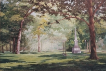 North Carolina artist J. Chris Wilson's Landscape Painting <em>Tarboro Common</em> &quot;From Murphy to Manteo--An Artist's Scenic Journey&quot;