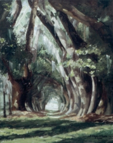 North Carolina artist J. Chris Wilson's Landscape Painting <em>Avenue of the Titans 2, St. Simons Island, GA</em> see also&quot;From Murphy to Manteo--An Artist's Scenic Journey&quot;