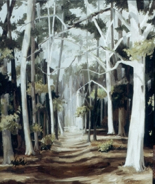 North Carolina artist J. Chris Wilson's Landscape Painting <em>Sentries Military Road St. Simons Island, GA</em> see also &quot;From Murphy to Manteo--An Artist's Scenic Journey&quot;