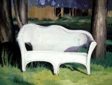 North Carolina artist J. Chris Wilson's Landscape Painting <em>The White Settee</em> see also &quot;From Murphy to Manteo--An Artist's Scenic Journey&quot;