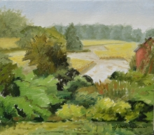 North Carolina artist J. Chris Wilson's Landscape Painting <em>Study for Ripening Tobacco, Nash County</em> &quot;From Murphy to Manteo--An Artist's Scenic Journey&quot;