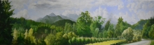 North Carolina artist J. Chris Wilson's Landscape Painting <em>Unicoi Mountains from Murphy</em> &quot;From Murphy to Manteo--An Artist's Scenic Journey&quot;