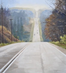 North Carolina artist J. Chris Wilson's Landscape Painting <em>View from Back Creek Terrace, Randolph County</em> &quot;From Murphy to Manteo--An Artist's Scenic Journey&quot;