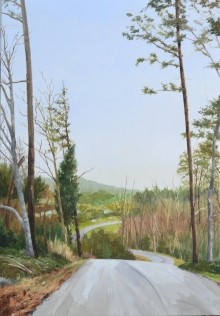North Carolina artist J. Chris Wilson's Landscape Painting <em>View from Country Club Road, Randolph County</em> &quot;From Murphy to Manteo--An Artist's Scenic Journey&quot;
