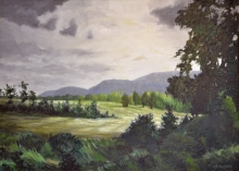 North Carolina artist J. Chris Wilson's Landscape Painting <em>View from Walnut Hollow, Burke County</em> &quot;From Murphy to Manteo--An Artist's Scenic Journey&quot;