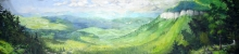 North Carolina artist J. Chris Wilson's Landscape Painting <em>Whiteside Mountain Overlook, Jackson County</em> &quot;From Murphy to Manteo--An Artist's Scenic Journey&quot;