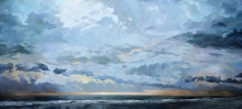 North Carolina artist J. Chris Wilson's Landscape Painting <em>Sunrise Coquina Beach on the Cape Hatteras National Seashore</em> &quot;From Murphy to Manteo--An Artist's Scenic Journey&quot;